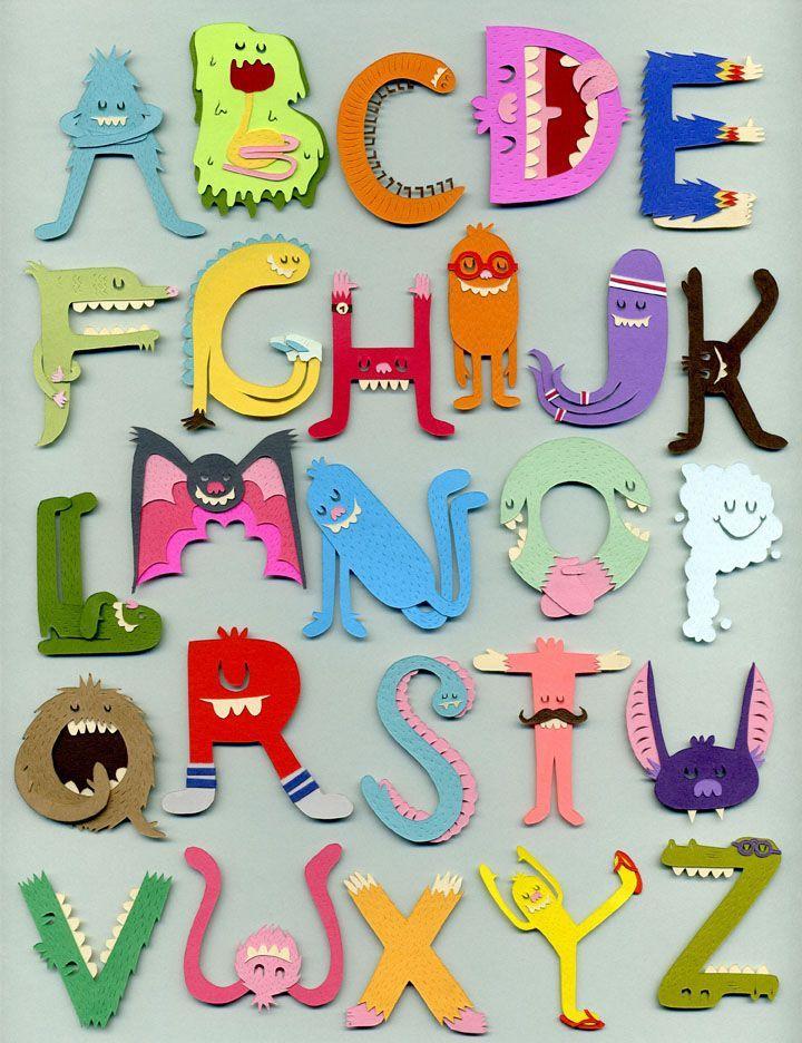 monster alphabet | JARED ANDREW SCHORR