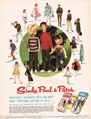 SINDY DOLL AD SINDY PAUL & PATCH TOYS Vintage Advertising 1966 Original Ad | eBay
