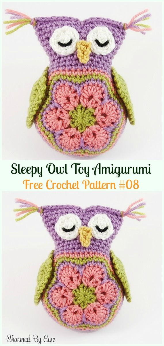 Amigurumi Crochet Owl Free Patterns Instructions | Softies ... | 1200x570