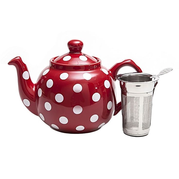 For nostalgic looks to style your tea-time, opt for the durable ceramic Farmhouse 2-Cup Dotty Filter Teapot, 600ml from London Pottery.