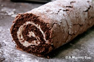 Chocolate roulade! It's flour-free, so extremely light in texture, but has a high cocoa content so tastes super rich and delicious.