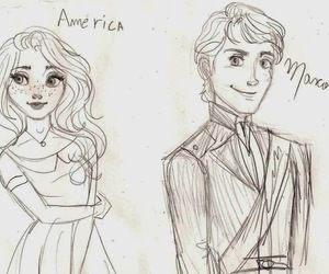 The Selection fan art. This is exactly how I picture both Maxon and America