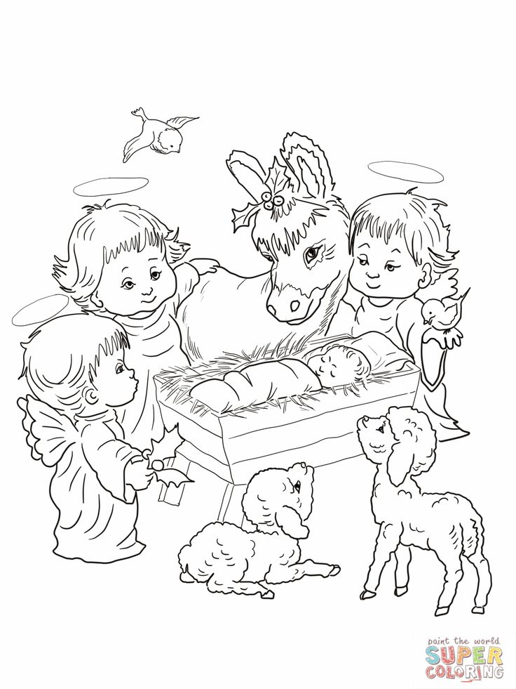 131 best Christmas Coloring Pages* images on Pinterest Coloring - copy nativity scene animals coloring pages