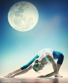 Try this gentle Moon Salutation sequence by Shiva Rea.