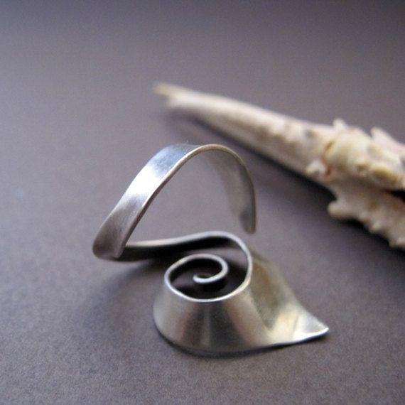Regelbare spiraal zilveren ring Open spiraal door Jewellietta