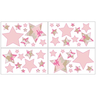 @Overstock - Sweet Jojo Designs removable wall decals add a fun and colorful touch to any bedroom. These wall decals make great gifts and are sure to enhance your room decor and create an interesting and stimulating environment.http://www.overstock.com/Baby/Sweet-JoJo-Designs-Pink-and-Khaki-Camo-Wall-Decal-Stickers-Set-of-4/7599467/product.html?CID=214117 $21.99