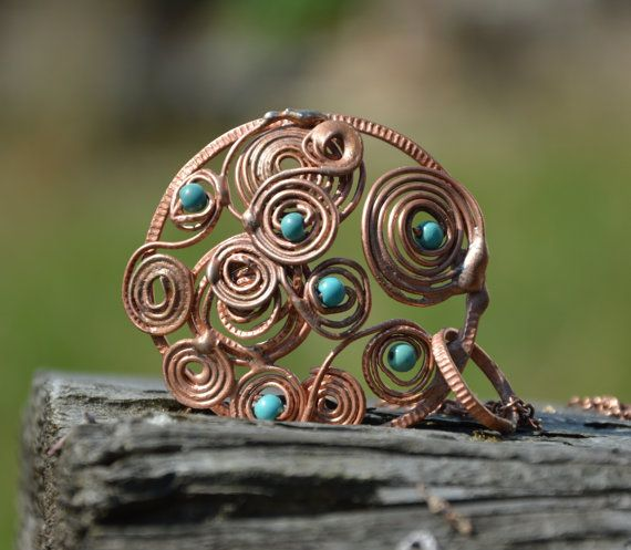 copper jewelry copper necklace layered necklace by CopperFinger