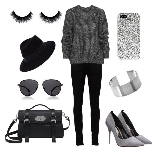 Greytones by rosehage on Polyvore featuring polyvore, fashion, style, Belstaff, Yves Saint Laurent, Mulberry, Maison Michel, The Row, women's clothing, women's fashion, women, female, woman, misses and juniors