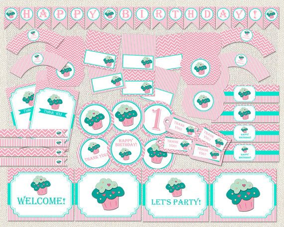 Printable Birthday Party Pack Decorations by PixiePerfectParties
