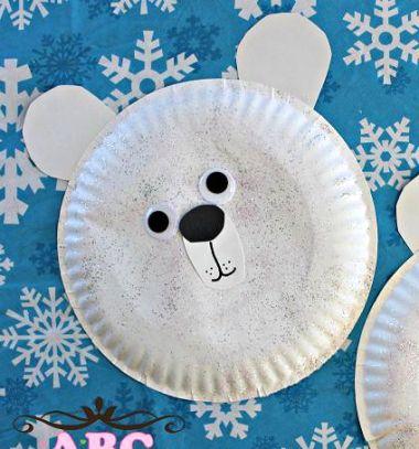 Adorable paper plate polar bear craft for kids // Aranyos jegesmedvék papír tányérokból - ötlet gyerekeknek // Mindy - craft tutorial collection