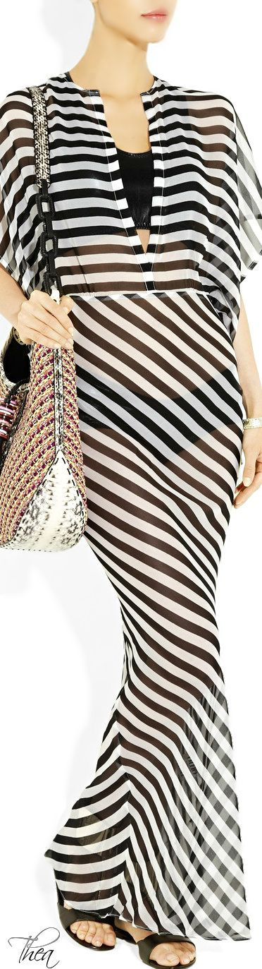 Norma Kamali ● silk-chiffon 'Obie' maxi dress