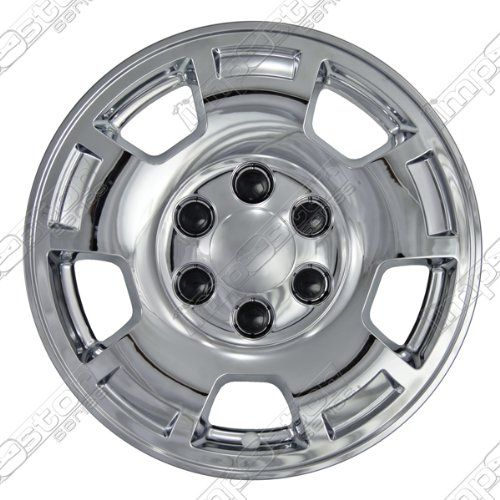 Wheel Cover Impostor Wheel Skins; Chrome Finish; 5 Spoke; Abs; 17 Inch