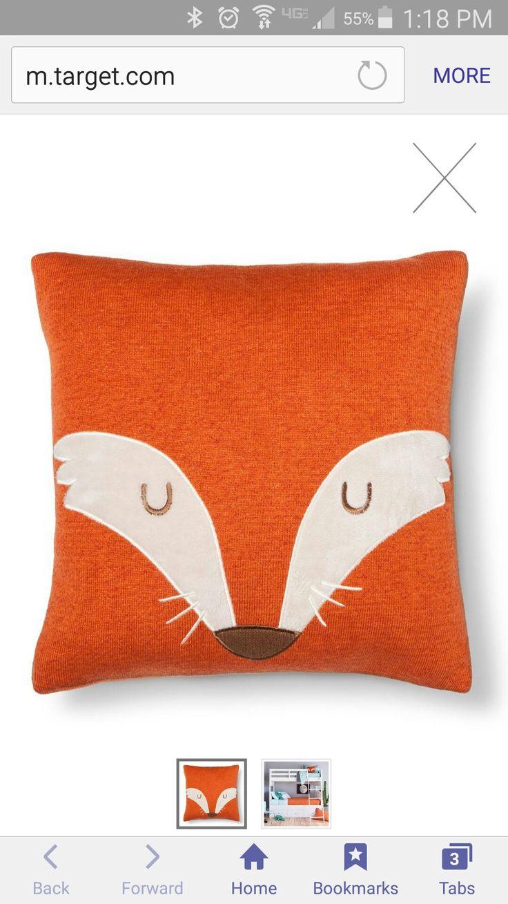 Target pillowfort fox square pillow - good idea to paint square canvas