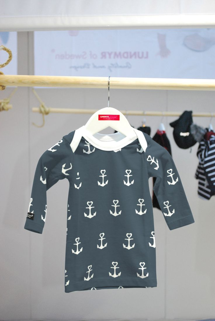Navy blue grayish long sleeve t shirt with anchors. Available in size 0-2 years.