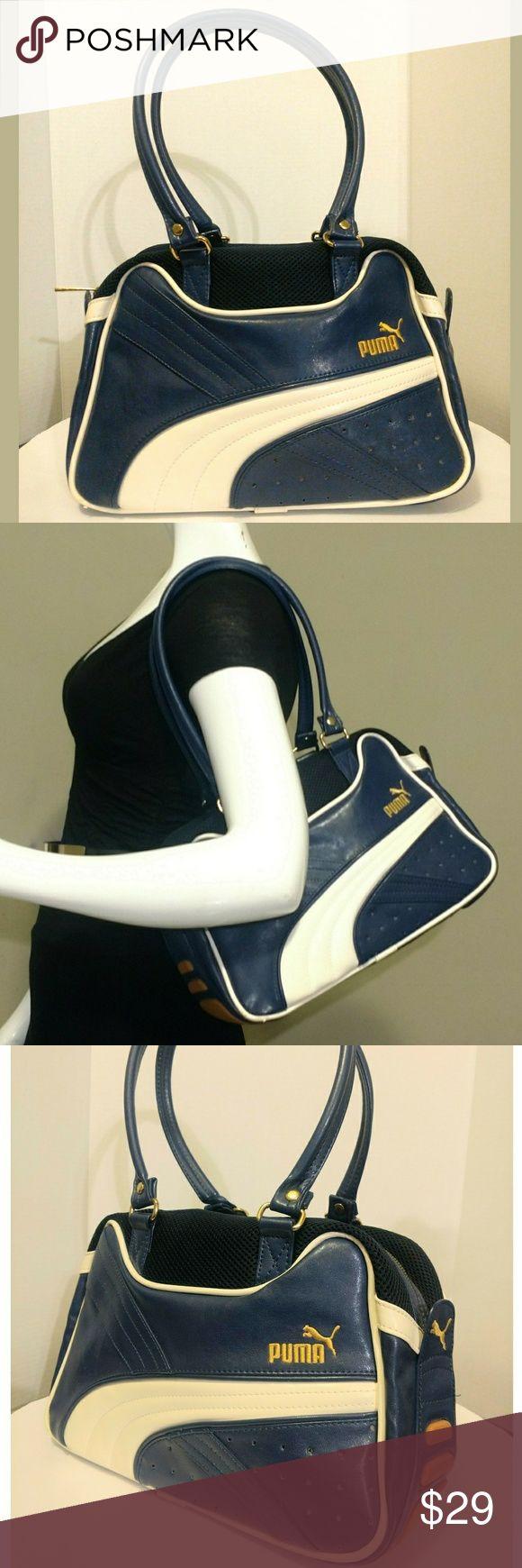 Puma Shoulder bag Cute blue and white Puma shoulder with gold tone hardware Puma Bags Shoulder Bags