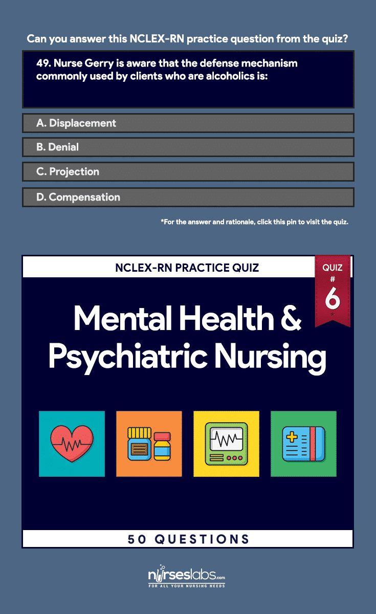 Mental Health and Psychiatric Nursing NCLEX Practice Exam 6