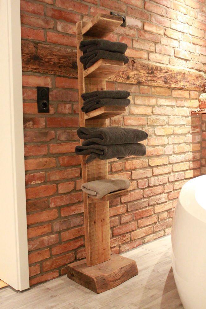 Handtuchhalter aus Massivholz – #aus #Handtuchhalt…