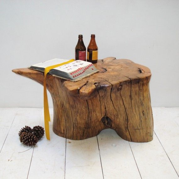 Best 20+ Tree Stump Side Table Ideas On Pinterest
