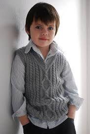 Resultado de imagen para chalecos tejidos para bebes varones