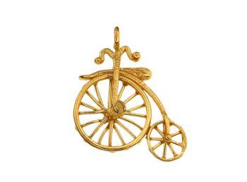 Μενταγιόν σε ασήμι επίχρυσο 925° #Pendants #Silver #Plated #Bicycle #handmade #craftsmanship  #goldsmith #Thessaloniki #Greece 26661
