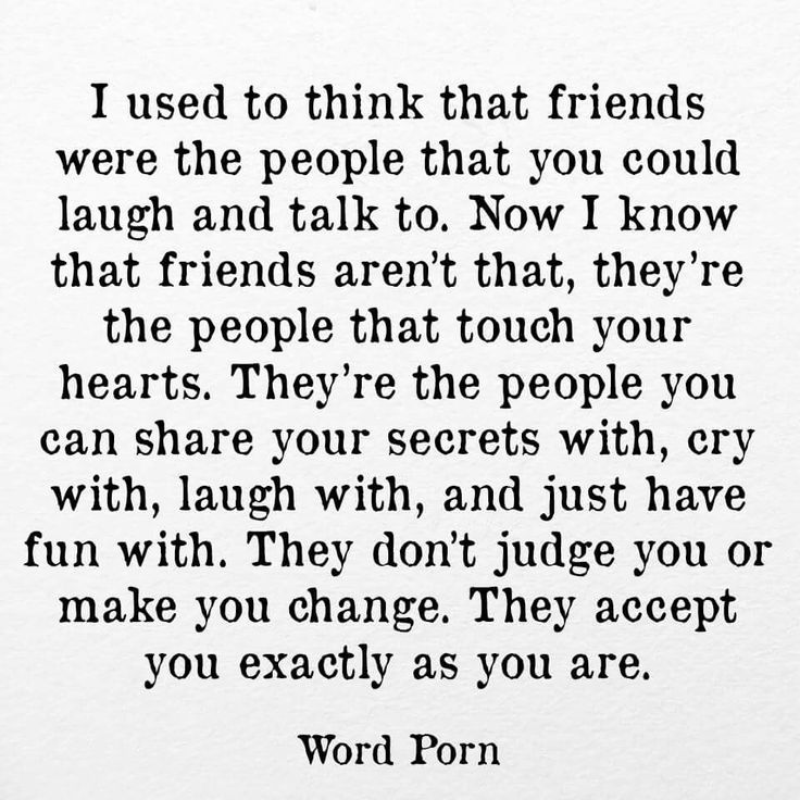 Friends are a different special kind of love.