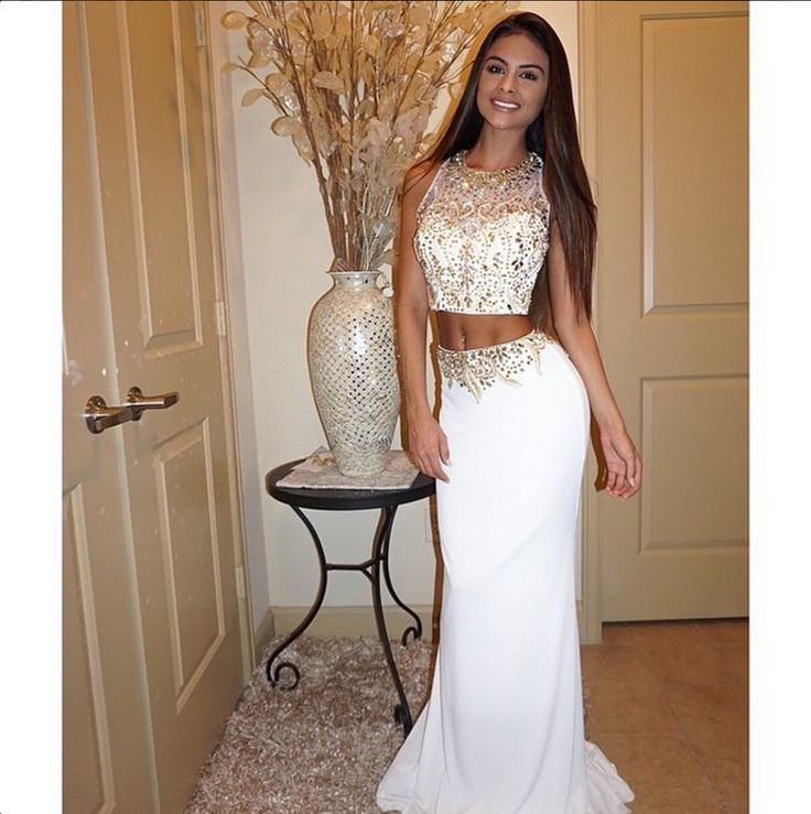 Prom dress gold zodiac