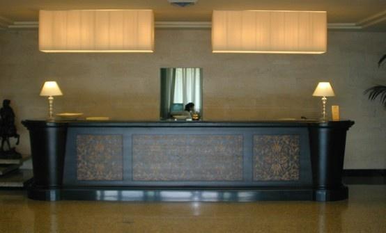 PORTFOLIO STUDIO SIMONETTI: reception@Plaza Hotel, architectural project of interiors, #plazaperugia #studiosimonetti #interiorproject #hoteldesign #reception