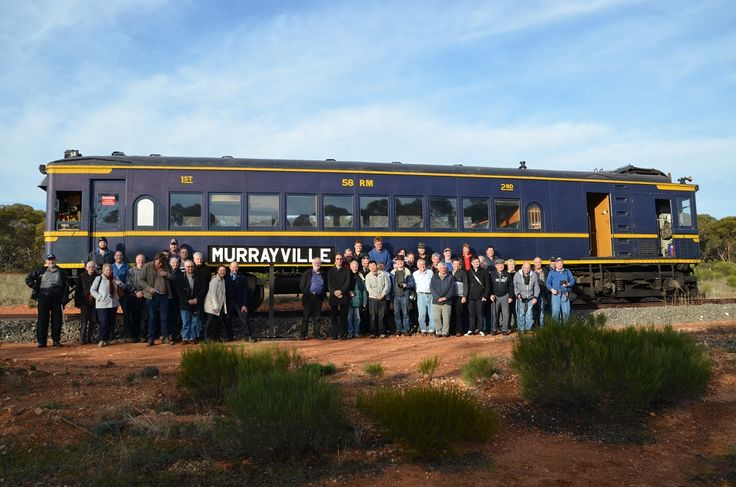 Here is a photo from our recent Murrayville and Yelta tour all the tour patrons at Murrayville.