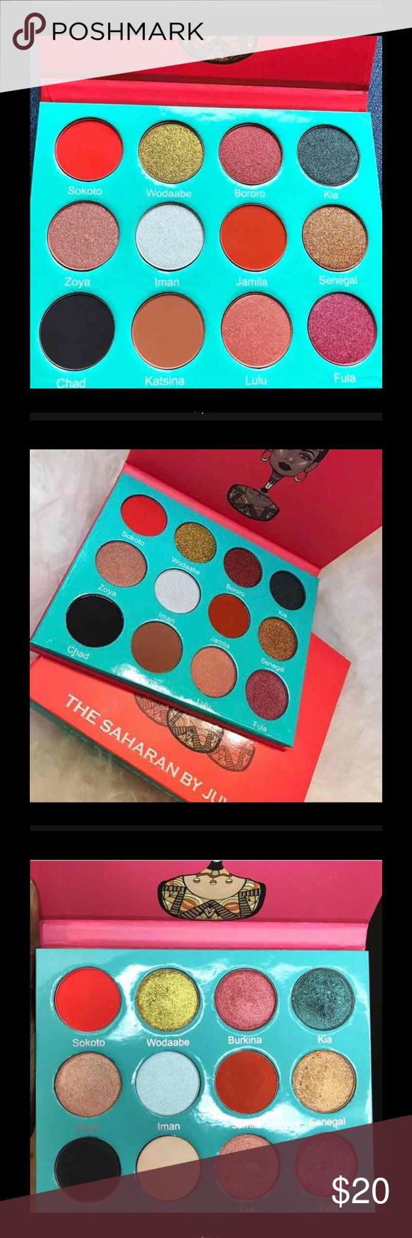 The Sahara palette by juvias Juvia's place The Saharan palette. SOLD OUT. BRAND NEW. 100% authentic, with proof of purchase. Tags: morphe, sephora, naked, urban decay, colourpop, tarte, makeup geek, eyeshadow palette, kylie Newww ,! Never used ! Exelent pigment ‼️ Makeup Eyeshadow