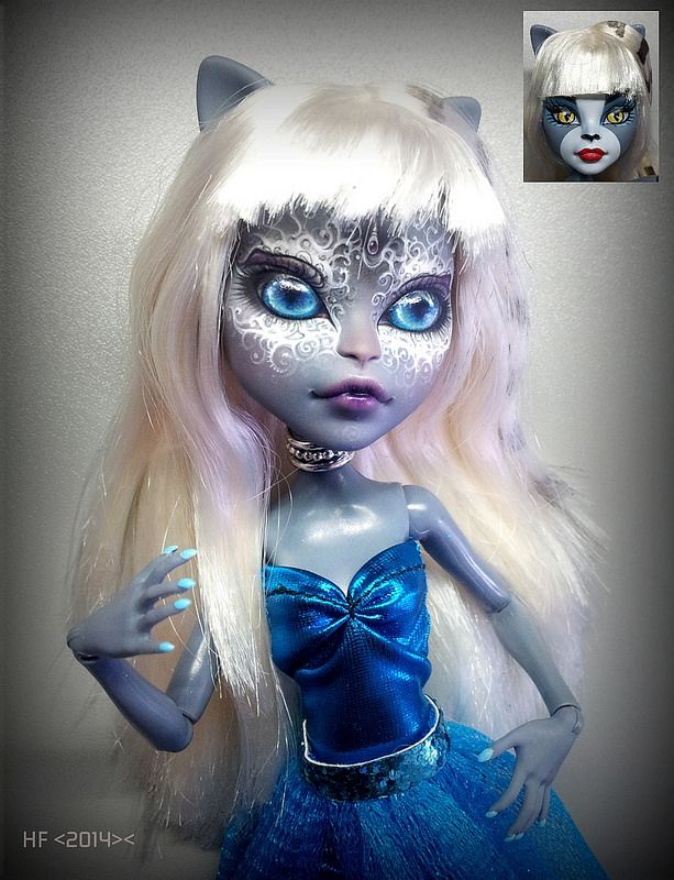 Monster High Meowlody repaint HOLY COW THIS IS SPECTACULAR!!!!!