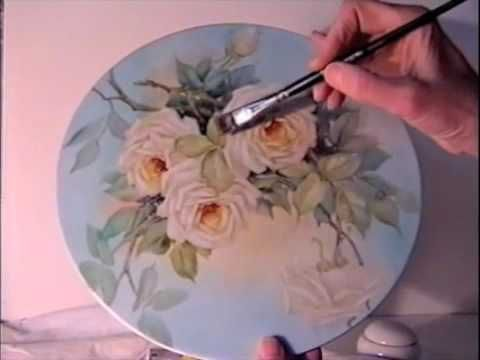 China Painting Tutorial - Peace Roses - Barbara Duncan - YouTube