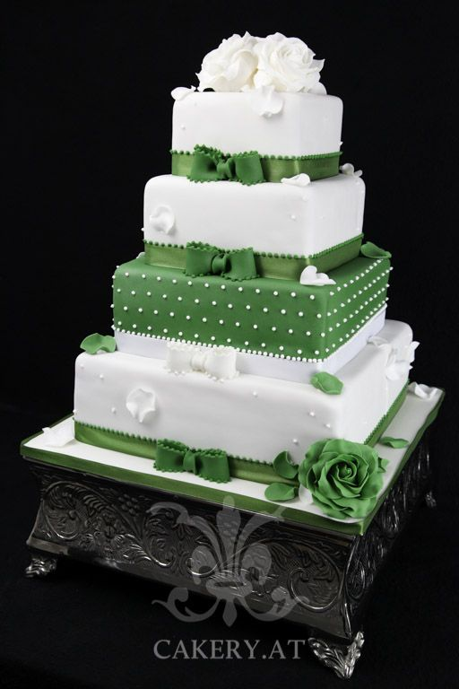Green Sensation wedding cake, white and green ~ Austria
