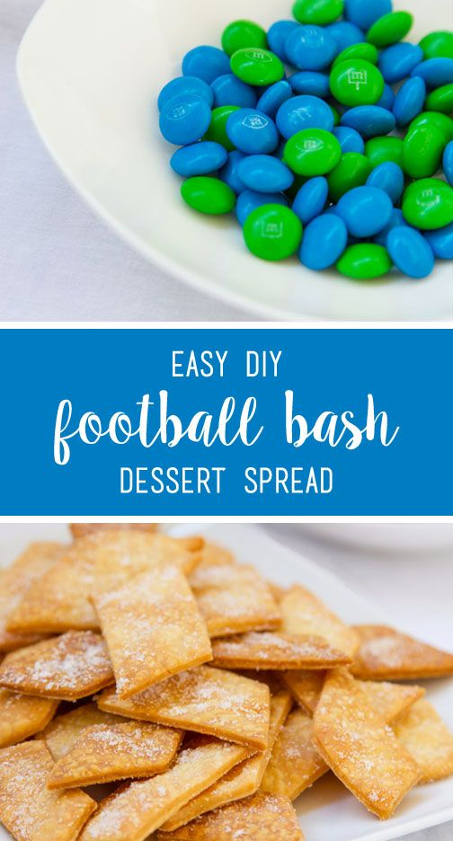 To complete this Easy DIY Football Bash Dessert Spread with Cinnamon and Sugar Pie Crust Cookies, stock up on your family's favorite topping and candies like the M&M'S® Game Day Mix. When you're looking for a quick tailgating snack idea that doubles as a kid-friendly dessert, this recipe is sure to do the trick—plus, you can find what you need at your local CVS!