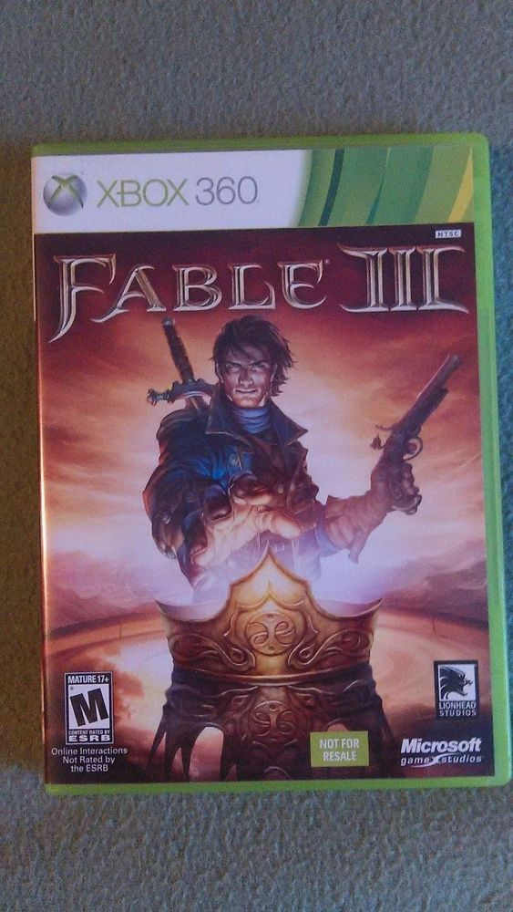 Fable III Microsoft Xbox 360 2010 Great Condition Fast Free Shipping