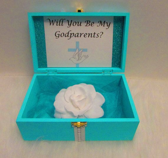 Custom Will You Be My Godparents Box Gift Will You Be My