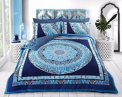 Pieridae Paisley Mandala Blue Duvet Bedding Cover Set With Pillow case