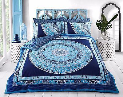 Pieridae Paisley Mandala Blue Duvet Bedding Cover Set With Pillow case