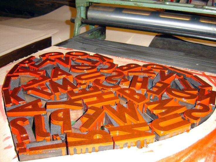 #letterpress #poster #woodtype