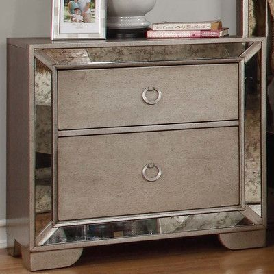 Best Bestmasterfurniture Ava 2 Drawer Nightstand Mesitas De 640 x 480