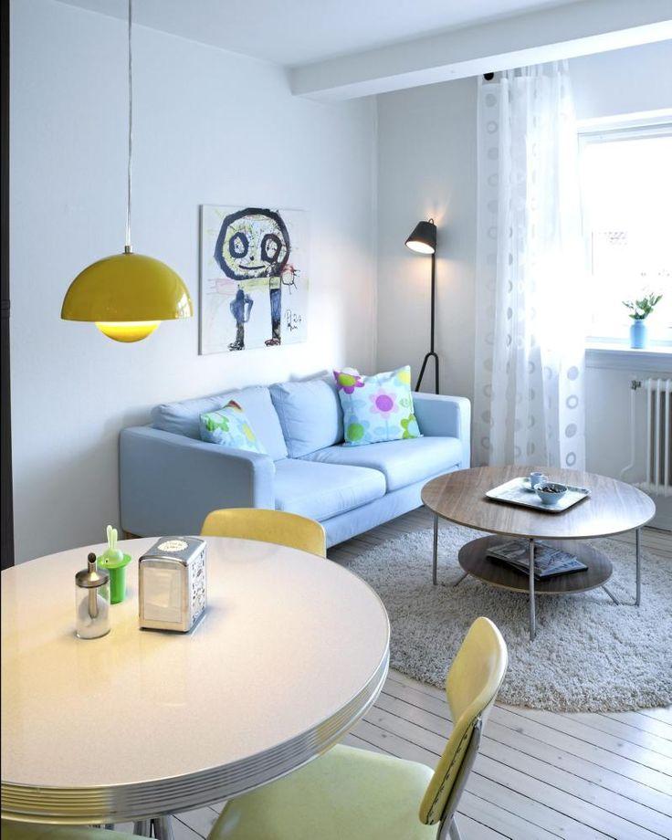 gul / lys blå inspirasjon