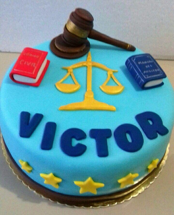 Torta abogado. Maricarme's cakes online Store. 991526566.