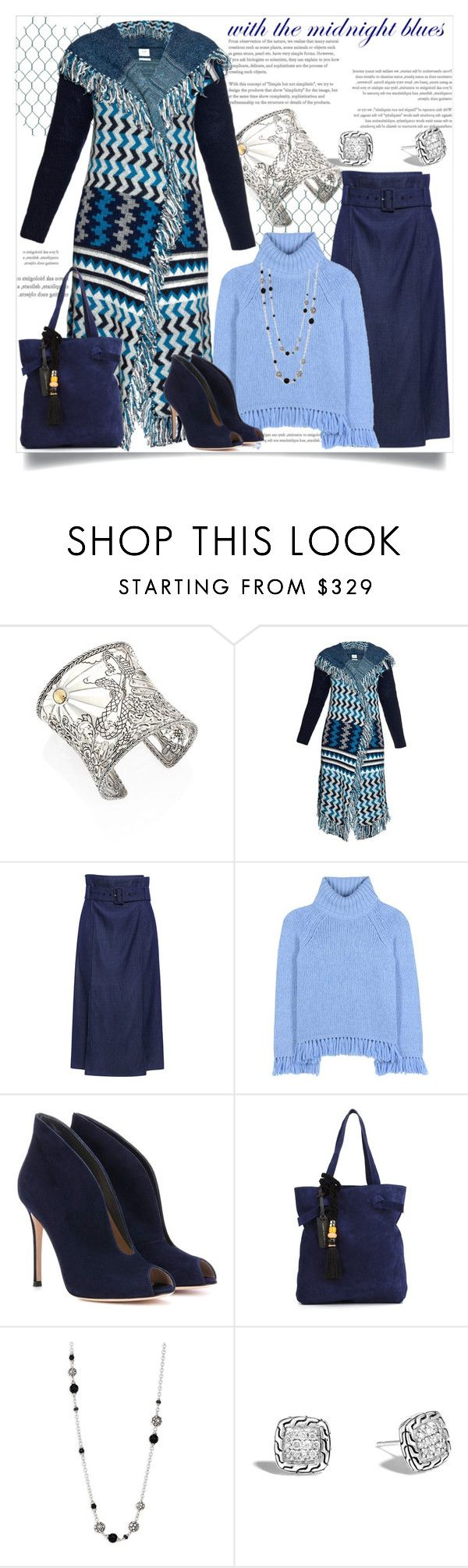 """Midnight Blues"" by helenaymangual ❤ liked on Polyvore featuring John Hardy, Banjo & Matilda, TIBI, Tory Burch, Gianvito Rossi and Lizzie Fortunato Jewels"