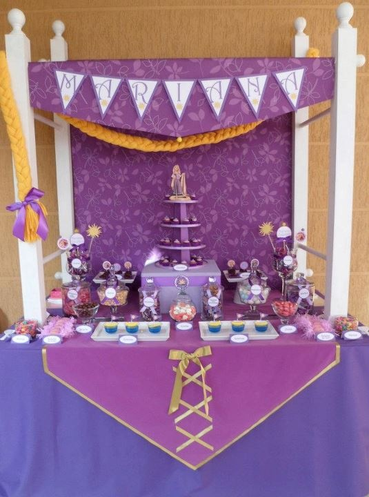 Decoracion Rapunzel Para Fiestas ~ Mesas and Tangled on Pinterest