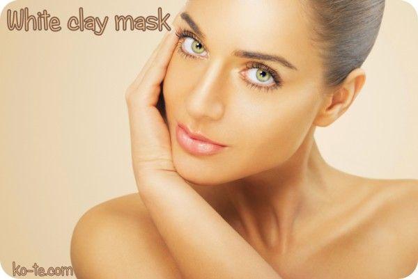 Лечебная белая глина для кожи лица. Антивозрастная маска