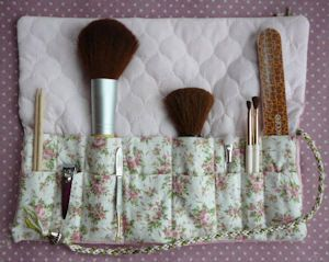 Cosmetic Brush Wrap -Pattern and Instructions