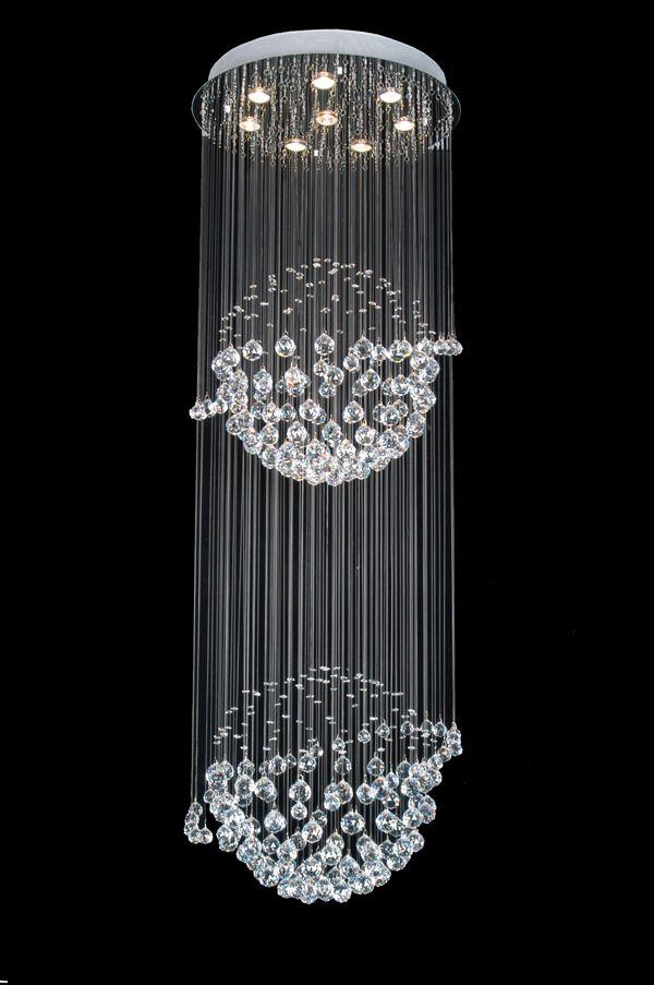 A93-809/8 Gallery Modern / Contemporary CRYSTAL LIGHT FIXTURE