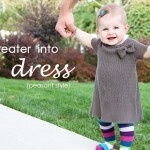 This blog has tutorials for repurposing old clothes to super cute baby clothes