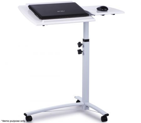 White High Gloss Laptop Table - Save 58% - Tilting Tray Table.