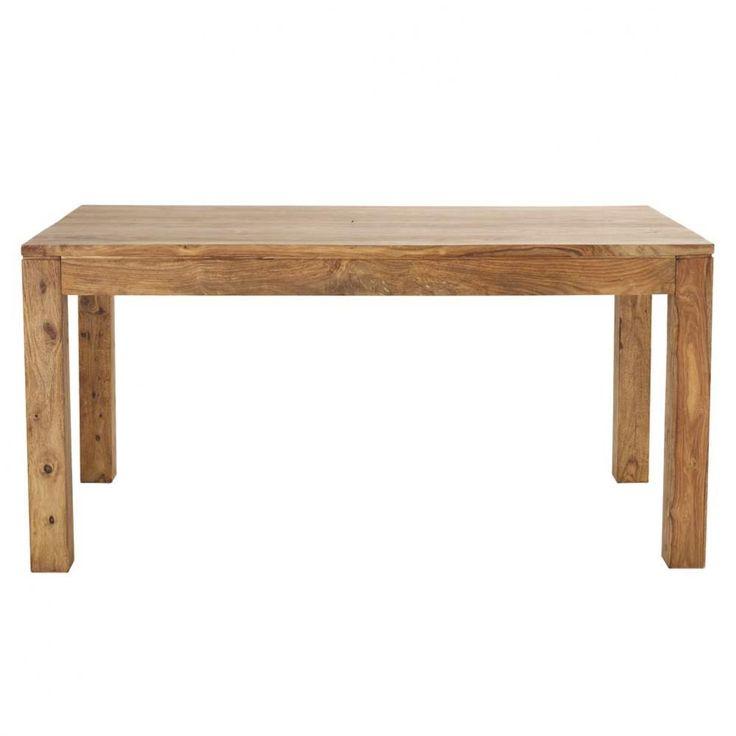 399€ Table de salle à manger en bois de sheesham massif L 160 cm Stockholm