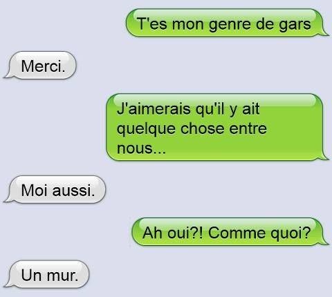 Quelle belle conversation entre une gars et une fille, prennez en note les gars ;-) ahahah
